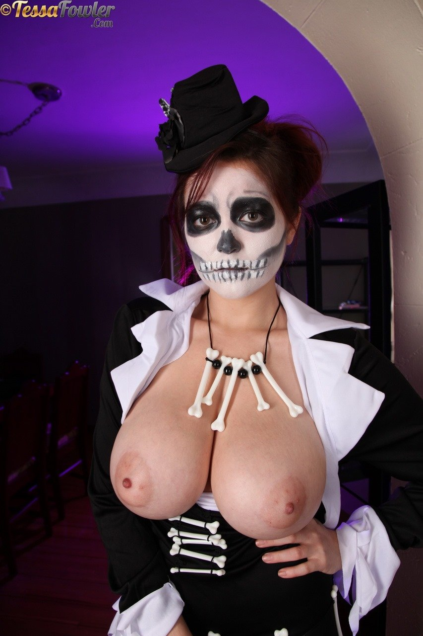 Apologise, but, Big tits in sexy halloween costume right!